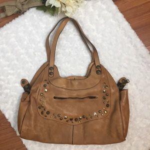 Patricia Nash Italian Leather Studded Shoulder Bag